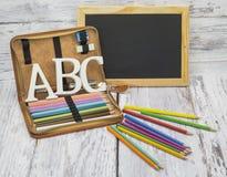 Primer día en la escuela Imagen de archivo libre de regalías