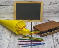 Primer día en la escuela Foto de archivo libre de regalías