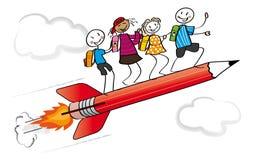Primer día en la escuela stock de ilustración