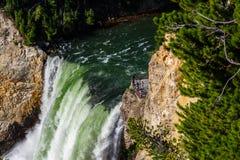 Primer de caídas más bajas de Yellowstone - parque nacional de Yellowstone, Wyoming, los E.E.U.U. Fotografía de archivo