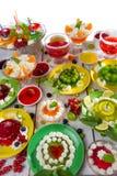 Primer de diversas clases de jalea de fruta foto de archivo libre de regalías