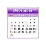 Primer de fechas en la página del calendario Foto de archivo libre de regalías