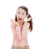 Primer de griterío de la muchacha Imagen de archivo libre de regalías