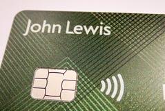 Primer de John Lewis y de la tarjeta de la sociedad de Waitrose foto de archivo libre de regalías