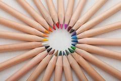 Primer de lápices coloreados Foto de archivo libre de regalías