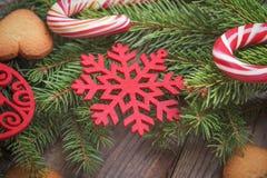 Primer de la aún-vida de la Navidad Fotos de archivo libres de regalías