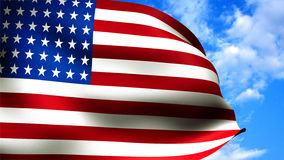 Primer de la bandera americana Fotos de archivo libres de regalías