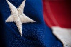 Primer de la bandera de Estados Unidos Foto de archivo libre de regalías