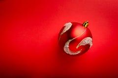 Primer de la bola roja en rojo Imagen de archivo libre de regalías