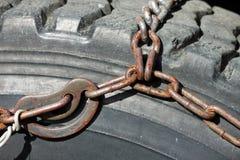 Primer de la cadena de neumático Imagenes de archivo