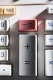 Primer de la calculadora Foto de archivo