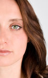 Primer de la cara de la mujer Imagen de archivo libre de regalías