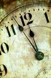 Primer de la cara de reloj de Grunge de la vendimia Foto de archivo libre de regalías