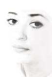 Primer de la cara de una señora joven fotografía de archivo