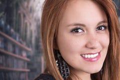 Primer de la cara del adolescente joven Foto de archivo