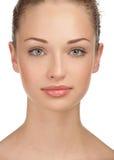 Primer de la cara femenina hermosa Fotos de archivo libres de regalías