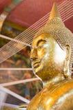 Primer de la cara y de las manos de la imagen del ` s de Buda Fotografía de archivo libre de regalías