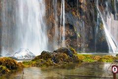 Primer de la cascada Imagenes de archivo