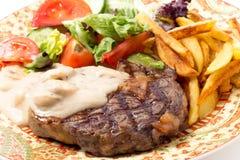 Primer de la comida del filete de Ribeye Imagen de archivo libre de regalías