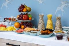 Primer de la comida fría del desayuno del hotel Imagen de archivo