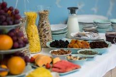Primer de la comida fría del desayuno del hotel Imagen de archivo libre de regalías