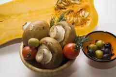 Primer de la comida vegetariana fresca Imagen de archivo
