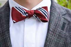 Primer de la corbata de lazo foto de archivo libre de regalías