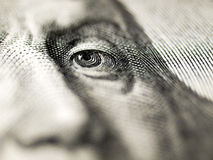 Primer de la cuenta de dólar. Fotografía de archivo