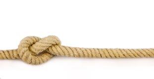 Primer de la cuerda con el nudo foto de archivo
