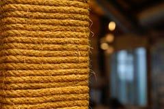 Primer de la cuerda del vintage con el fondo del espacio de la copia Foto de archivo