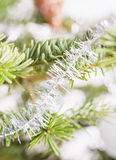 Primer de la decoración del árbol de navidad Imágenes de archivo libres de regalías