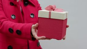 Primer de la entrega del regalo almacen de video