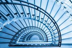 Primer de la escalera espiral Foto de archivo