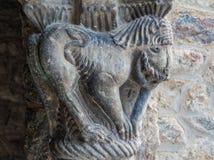 Primer de la escultura catalana del arte romano en la abadía de Santo-marcha Fotos de archivo