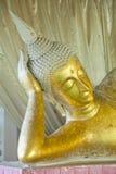 Primer de la estatua del oro de Buda Fotografía de archivo libre de regalías