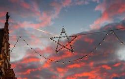 Primer de la estrella de la Navidad Foto de archivo