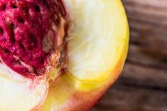 Primer de la fruta del melocotón Fotos de archivo libres de regalías