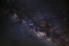 Primer de la galaxia de la vía láctea, fotografía larga de la exposición, con el grano Imagen de archivo libre de regalías