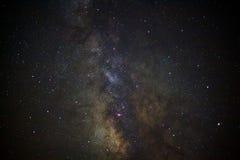 Primer de la galaxia de la vía láctea, fotografía larga de la exposición, con el grano Imagen de archivo