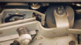 Primer de la grabadora de carrete vieja almacen de video
