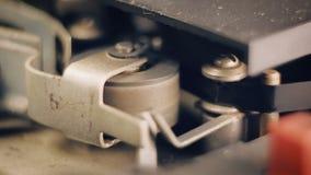 Primer de la grabadora de carrete vieja metrajes