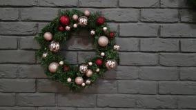 Primer de la guirnalda de la Navidad almacen de metraje de vídeo
