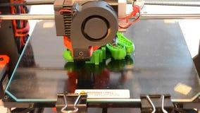 Primer de la impresora de la impresión 3D almacen de metraje de vídeo