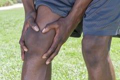 Primer de la lesión de rodilla Fotografía de archivo libre de regalías