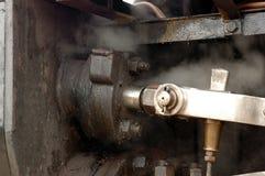 Primer de la locomotora de vapor Fotos de archivo libres de regalías
