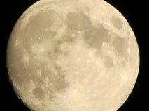 Primer de la luna fotografía de archivo