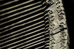 Primer de la máquina de escribir vieja Fotografía de archivo libre de regalías