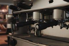 Primer de la máquina del café Foto de archivo