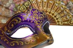Primer de la máscara de Venecia Imagen de archivo libre de regalías