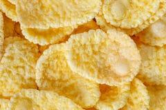 Primer de la macro de los copos de maíz Foto de archivo